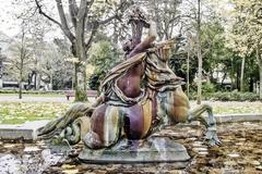 Hippocamp mythical sculpture - stock photo