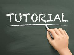Stock Illustration of tutorial word written by hand
