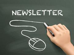 Newsletter word written by hand Stock Illustration