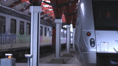 Sliver Train modern Station1920x1080 full hd footage Stock Footage