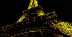 Stock Video Footage of The Eiffel Tower Landmark Paris France Night, Editorial 4K Stock Video Footage