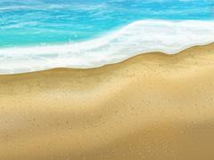 sand of beach scene background - stock illustration