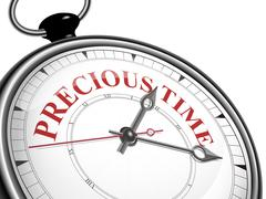 Stock Illustration of precious time concept clock