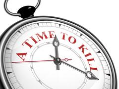 A time to kill concept clock Stock Illustration