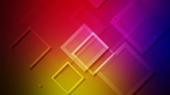 Colorful flying rhombus Stock Footage