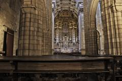 Oporto cathedral altar - stock photo