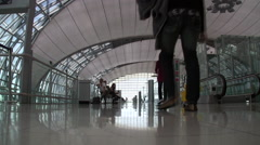 Suvarnabhumi International Airport Interior Terminal Bangkok Thailand 8015 Stock Footage