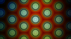 Colorful circle pattern Stock Footage
