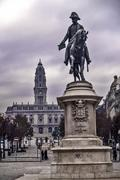 Stock Photo of King Pedro IV sculpture in Oporto
