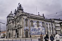Carmo church in Oporto - stock photo