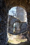 Old ruin in tne South Bohemian. Stock Photos
