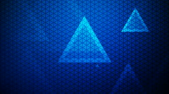 glowing blue triangle - stock footage