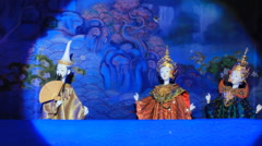 Thai Puppet Show In International Puppets Festival 2014 Stock Footage