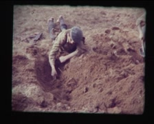 Basic military training schoolchildren in the USSR, SD vintage video 8mm Stock Footage