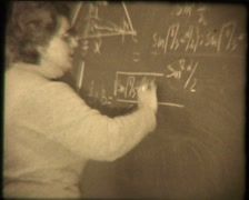 Math lesson, SD vintage video 8mm Stock Footage