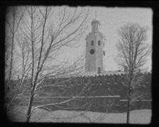 Novgorod Kremlin in the winter, SD vintage video 8mm Stock Footage