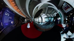 Pan Hong Kong Convention and Exhibition Center during Fall Winter Fashion Week Stock Footage