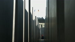 Holocaust memorial Berlin Stock Footage