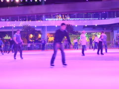 Skating on ice. Related clips are in my portfolio in 1920x1080. - stock footage