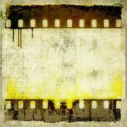 Vintage film strip frame - stock illustration