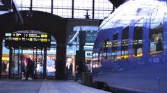 Train modern Station Mall inside 1920x1080 full hd footage Stock Footage