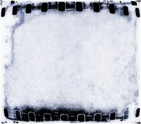 Vintage blue film strip frame - stock illustration