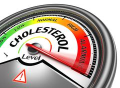 cholesterol level conceptual meter - stock photo