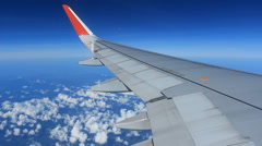 Airplane journey Stock Footage