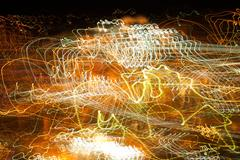 Abstract photo with light painting Stock Photos