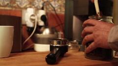 Making coffe medium shoot Stock Footage