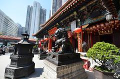 View of wong tai sin temple in hong kong Stock Photos