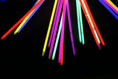 coloful lights for new years night party Stock Photos