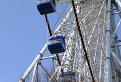 Attraction Ferris wheel - stock photo