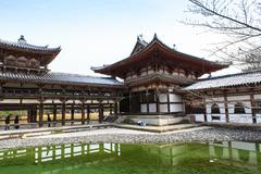 Byodoin Temple in winter season, Japan - stock photo