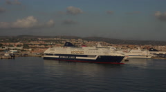 Rome Italy cruise Civitavecchia Port cruise ships sunset 4K 038 Stock Footage