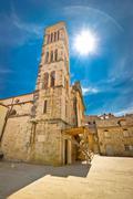 Town of hvar church tower Stock Photos