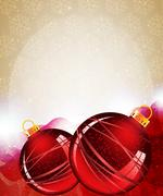 red christmas ornaments - stock illustration