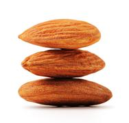 almonds with clipping path - stock photo