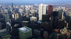 4K UltraHD A timelapse aerial view of Toronto Canada's city center Stock Footage