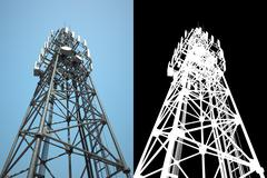 High telecommunications tower Stock Illustration