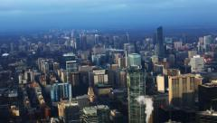 4K UltraHD Timelapse aerial view of Toronto's city center Stock Footage