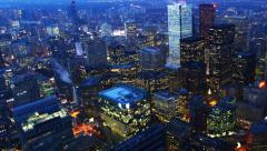 4K UltraHD Day to night timelapse aerial view of Toronto's city center Stock Footage