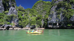 Sea canoe in Thailand Stock Footage