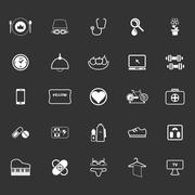 Quality life line icons on gray background Stock Illustration