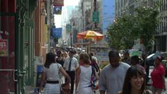 Street & people on street NYC Stock Footage