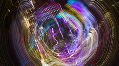 Tokyo city light rush electric abstract neon future Stock Footage