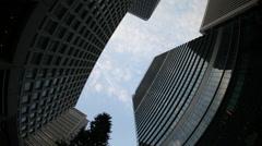tokyo japan city future skyscrapers skyline destination timelapse - stock footage