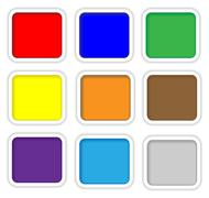Color web buttons with white rim Stock Illustration