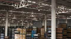 Time lapse of warehouse Stock Footage