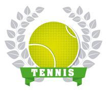 tennis sport design, vector illustration eps10 graphic - stock illustration